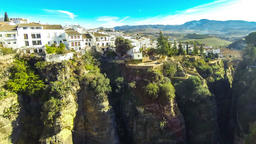 Panoramic view of Ronda old town, Andalusia, Spain Footage