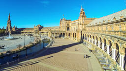 Panorama of Plaza de Espana in Seville, Andalusia, Spain Archivo