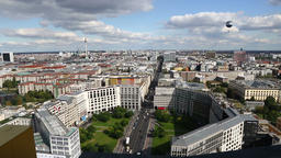 Aerial view of Berlin city center, Germany Footage