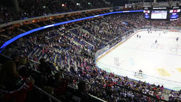 Mercedes-Benz Arena in Berlin during ice-hockey game 画像