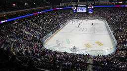 Mercedes-Benz Arena in Berlin during ice-hockey game 영상물