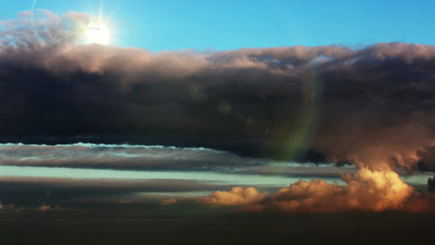 Beautiful skyscape. The sun behind the clouds Footage