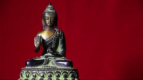 Rotating statue of Buddha Footage