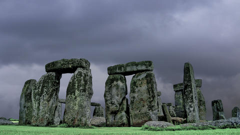Stonehenge with cloud time lapse. N1 Footage