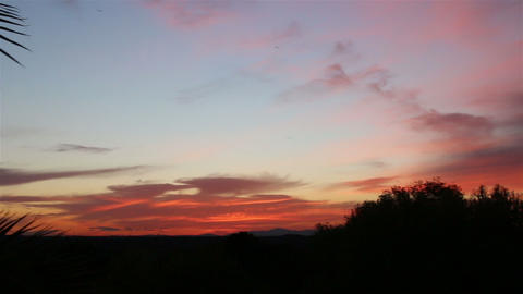 Beautiful tropical sunset. Panorama from right to left 영상물
