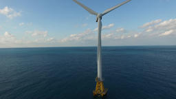 A wind turbine, Jejeu island, South Korea Footage