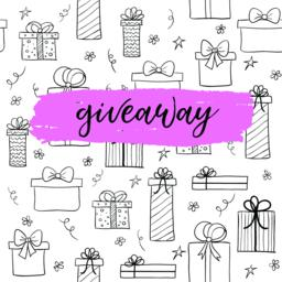 Vector giveaway card for blogs. Hand drawn gifts ベクター