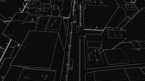 Sketch city abstract architectural background Footage