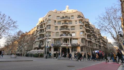 Casa Mila La Pedrera of Antoni Gaudi in Barcelona 画像
