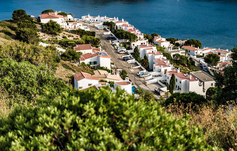 L'Escala town from top of hill Photo