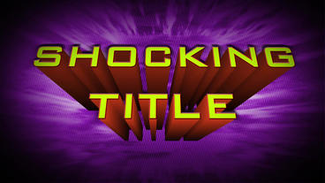 Shocking Title After Effects Templates