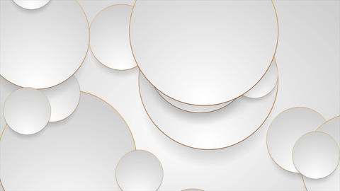 Grey silver circles with bronze luxury outlines video animation Animation