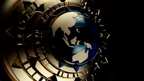 Steampunk Globe V3 Animación