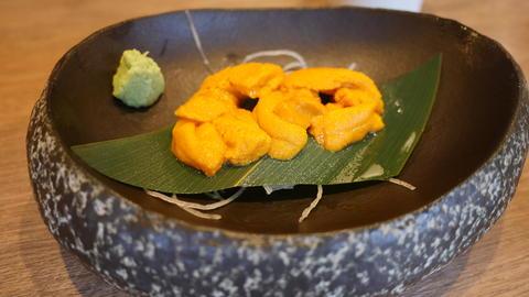 shot of exotic Japanese seafood sashimi Photo