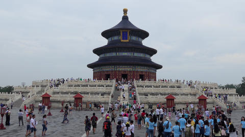 Tourists Visiting The Temple Of Heaven In Beijing China Asia Footage