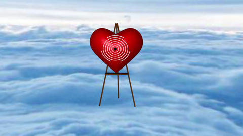 The Angel shooting in heart Animation
