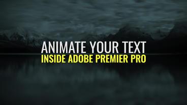 Text Animator Premiere Proテンプレート