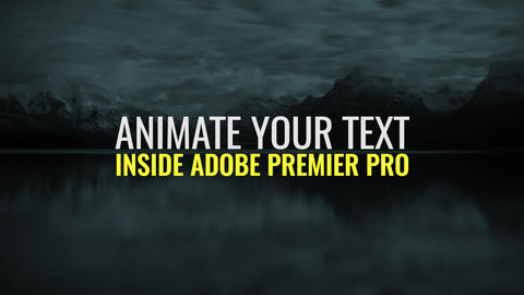 Text Animator Premiere Pro Template