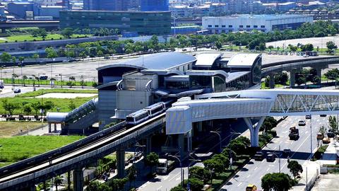 Footage - MRT Train is Leaving MRT Station Footage