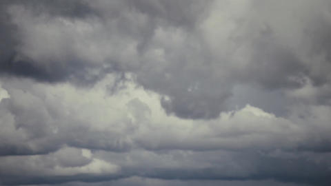 Cloud grey sky before heavy rain. Panorama Footage