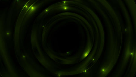 Green glowing space with sparkling stars motion background Animation