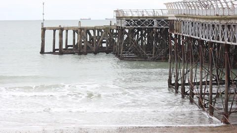 Waves by the Pier Footage