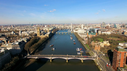 4K Aerial View Above The London City Of Westminster stock footage