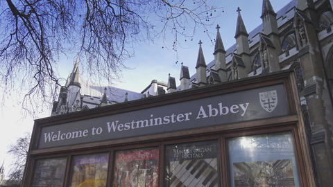 Welcome to Westminster Abbey sign 15th january 2016 Live Action