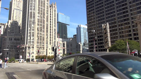 Chicago Magnificent Mile street scene - CHICAGO, ILLINOIS/USA Live Action