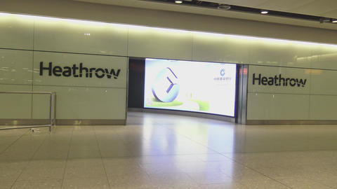 London Heathrow Airport Arrivals Live Action