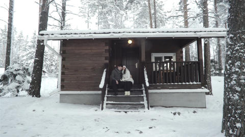 Young Couple Having Romantic Time Outdoor Footage