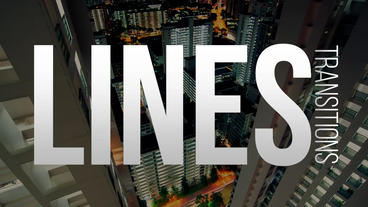 Lines Transitions Premiere Proテンプレート