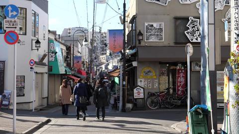 (Time lapse) Walking through Yanaka Ginza,Tokyo Live Action