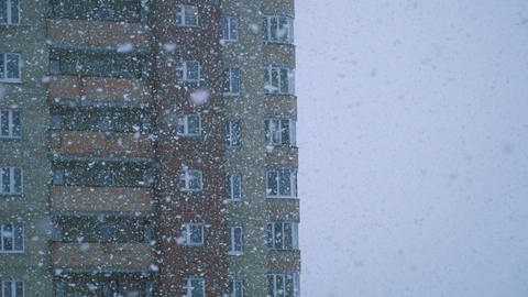 Slow motion of falling snow Footage