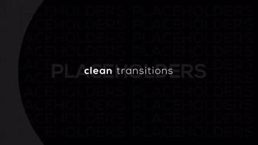 Clean Transitions Premiere Proテンプレート