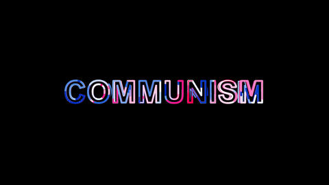 Letters are collected in political system COMMUNISM, then scattered into strips Animation