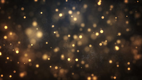Background material where golden particles fly CG動画