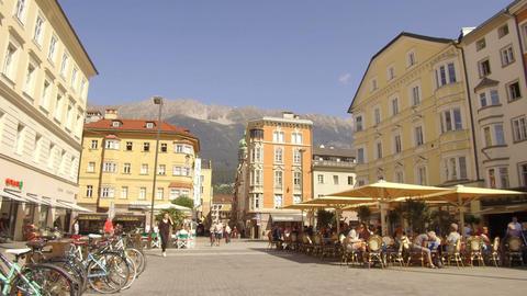 Pov walking Marienstrasse, Innsbruck Footage
