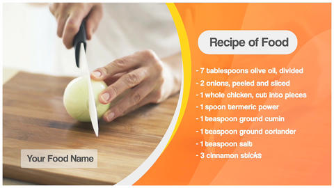 Food Recipe & Lower third After Effects Template