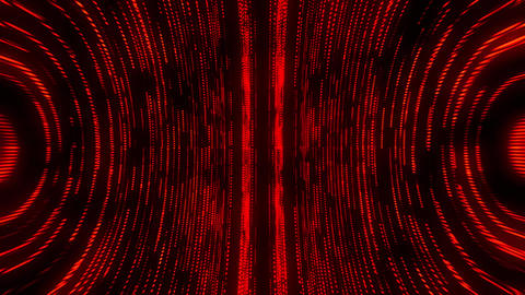 Red Round Circular Matrix GridLines VJ Loop Motion Background Animation