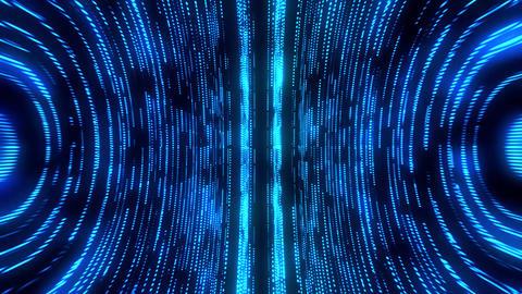 Blue Round Circular Matrix GridLines VJ Loop Motion Background Animation