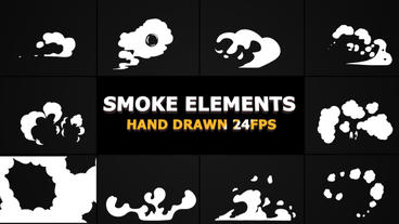 Hand Drawn SMOKE Elements 24 fps After Effects Template