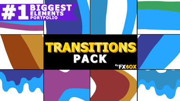 Dynamic Cartoon Transitions After Effects Template