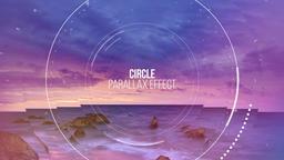 Circle Parallax Slideshow Premiere Proテンプレート