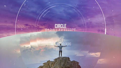 Circle Parallax Slideshow Premiere Pro Template