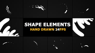 Hand Drawn Shape Elements And Transitions After Effects Template