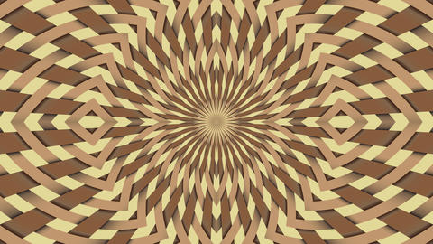 Wicker pattern. Colorful looping kaleidoscope sequence. Abstract motion graphics GIF