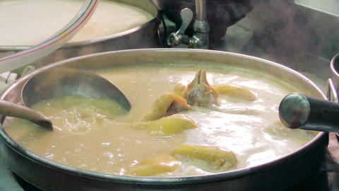 boiling supreme chicken soup Live Action