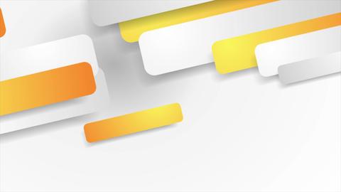 Orange and grey paper geometric video animation Animation