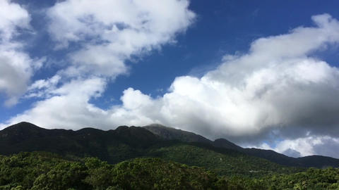timelapse of a beautiful blue sky and cloud and mountain Footage